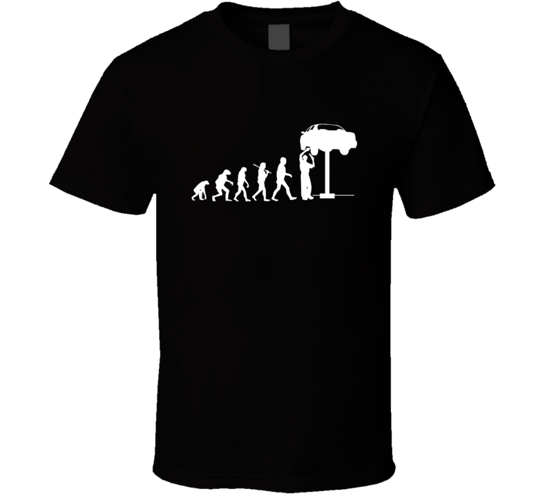 The Evolution Of The Mechanic Cool Car T Shirt