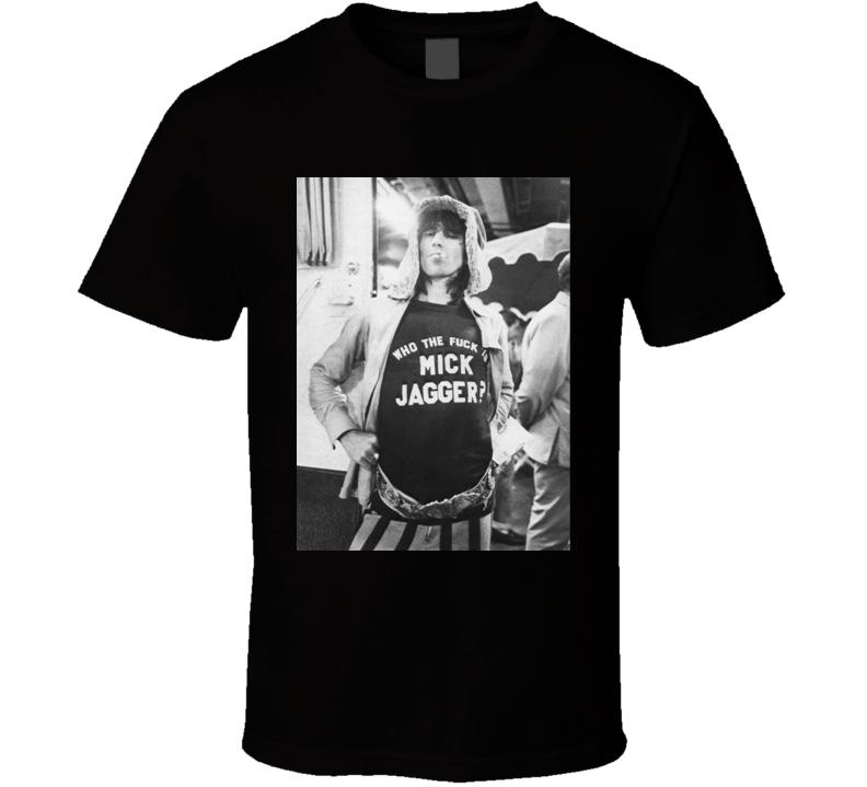 Mick Jagger Wearing A Who The Fuck Is Mick Jagger Shirt Rock Music Band T Shirt