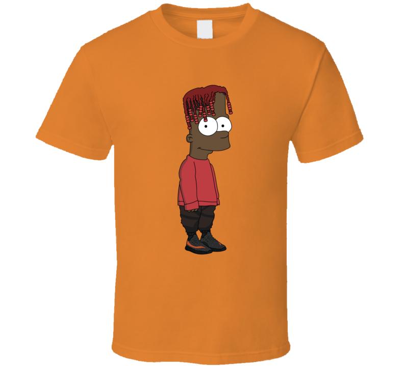 Lil Yachty Bart Simpson Parody Rap Hip Hop Music Fan T Shirt