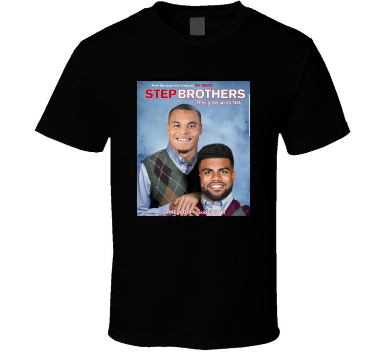Dak Prescott Ezekiel Elliot Dallas Football Step Brothers Parody Movie Poster T Shirt