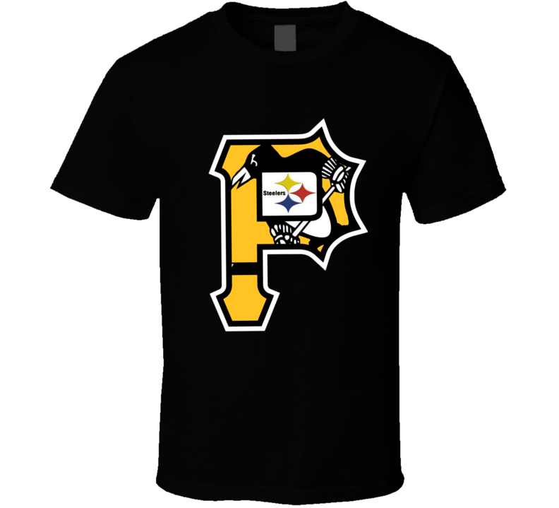 Pittsburgh Sports Team Mashup Penguins Pirates Steelers Cool Fan T Shirt