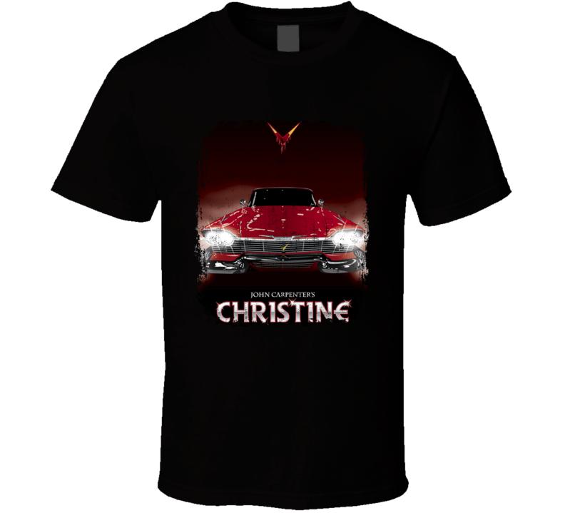 John Carpenters Christine Scary Horror Evil Car Movie Poster Fan T Shirt