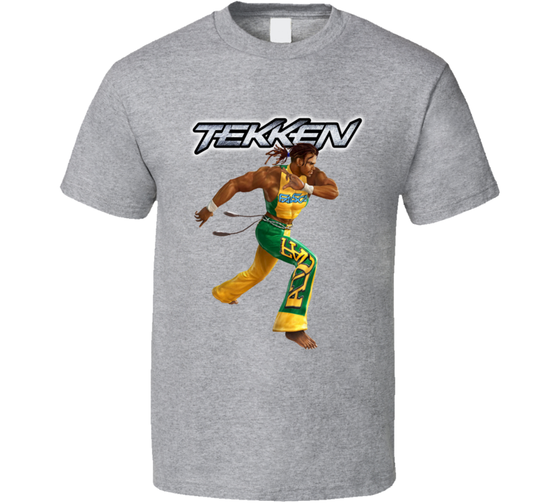 eddy gordo tekken retro arcade fighting video game character fan t shirt eddy gordo tekken retro arcade fighting
