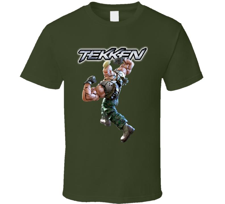 Gun Jack Tekken Retro Arcade Fighting Video Game Character Fan T Shirt