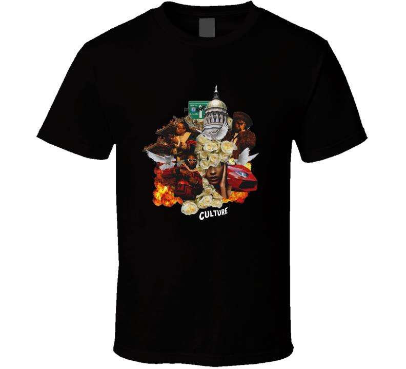 Migos Quavo Offset Takeoff Culture Album Cover Atlanta Rap Hip Hop Music Fan T Shirt