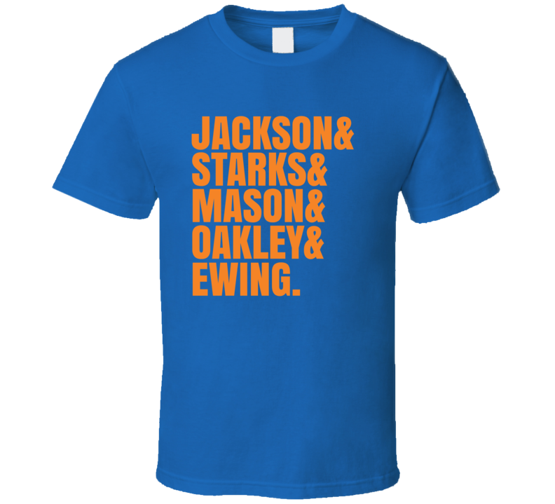 Jackson Starks Mason Charles Oakley And Patrick Ewing Retro New York Basketball Sports Team Fan T Shirt