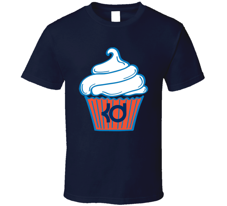 Kevin Durant 35 Logo Cupcake Funny OKC Oklahoma City Basketball Sports Team Fan T Shirt