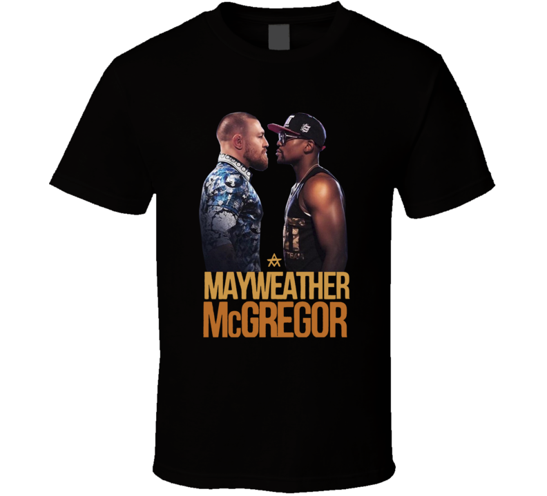 Conor McGregor Vs Floyd Mayweather Super Fight Card MMA Boxing Fighter Fan T Shirt