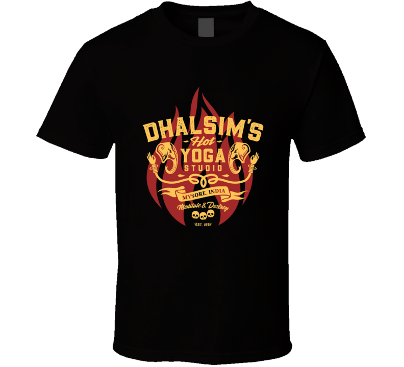 Dhalsim's Hot Yoga Street Fighter Video Game Parody T Shirt