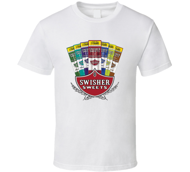 Swisher Sweets Cigarillos Cool Cigar Blunt Logo T Shirt