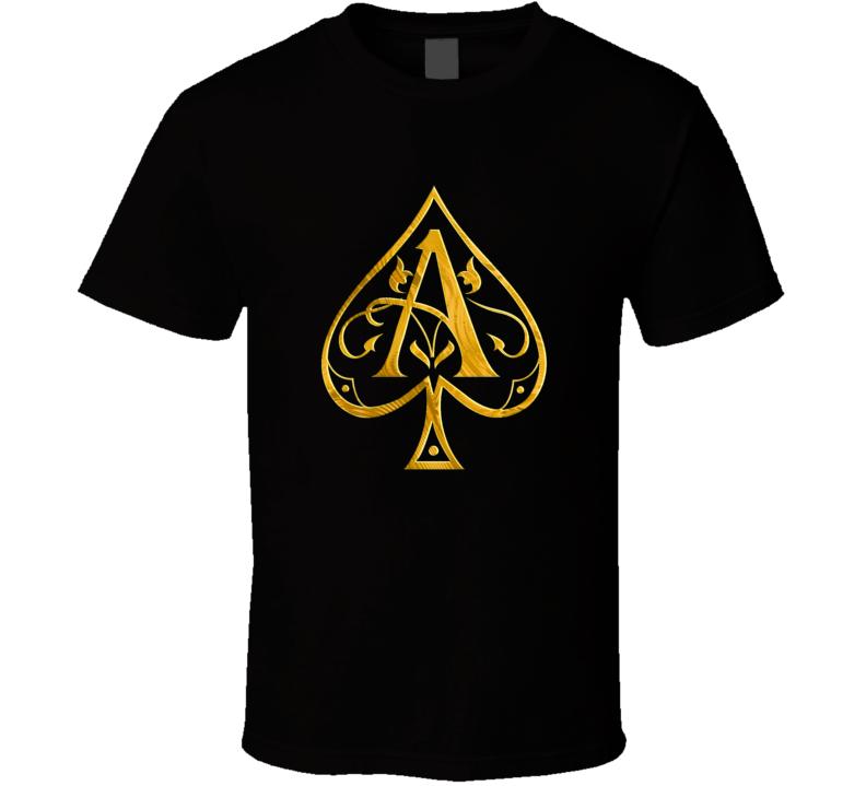 Ace Of Spades Champagne Bottle Logo T Shirt