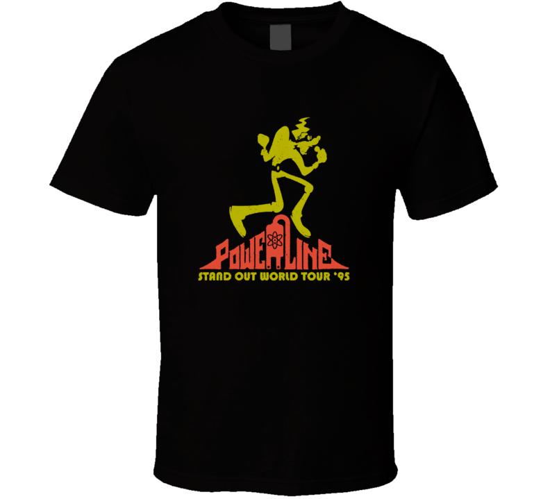 A Goofy Movie Powerline World Tour Cool Cartoon T Shirt