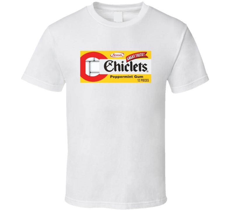 Chiclets Peppermint Gum Popular Retro Candy Bar Junk Food Lover Logo T Shirt