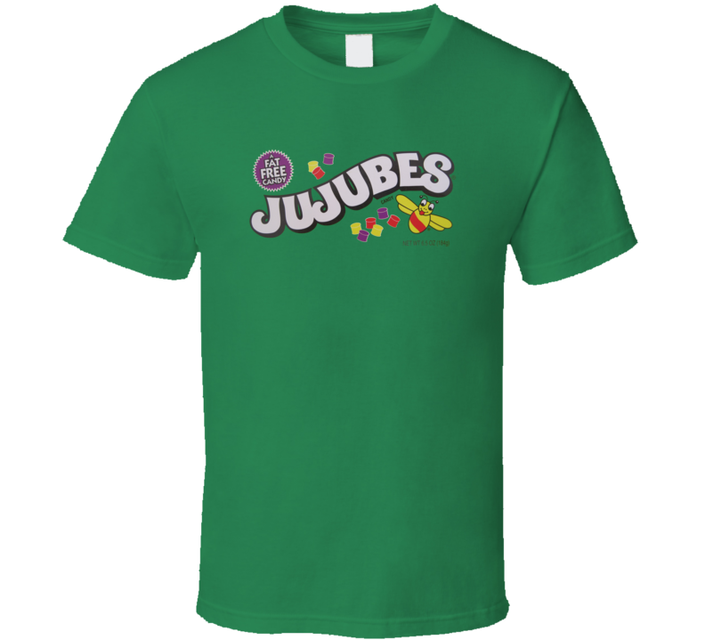 Jujubes Popular Retro Candy Bar Junk Food Lover T Shirt