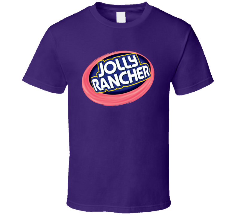 Jolly Rancher Popular Retro Candy Bar Junk Food Lover Logo T Shirt