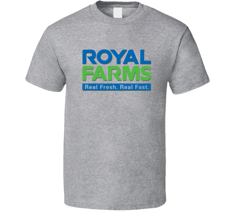 Royal Farms Gas Station Store Cool Brand Logo Car T Shirt