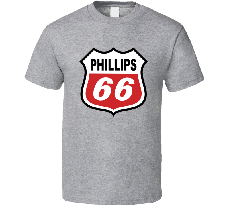 Phillips 66 Gas Station Store Cool Brand Logo Car T Shirt