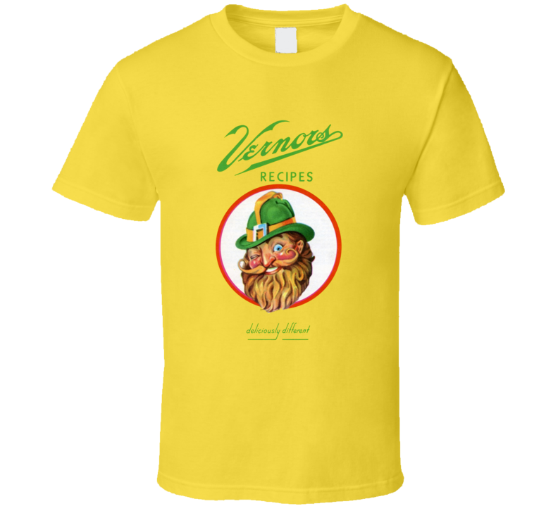 Vernor's Recipe Popular Soft Drink Soda Juice Brand Logo T Shirt