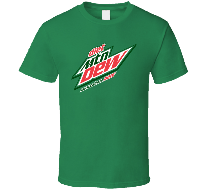 Diet Mountain Dew Soft Drink Soda Juice Brand Logo T Shirt