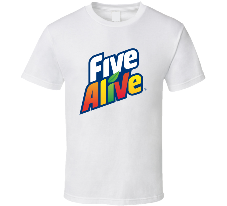 Five Alive Popular Fruit Juice Drink Logo T Shirt