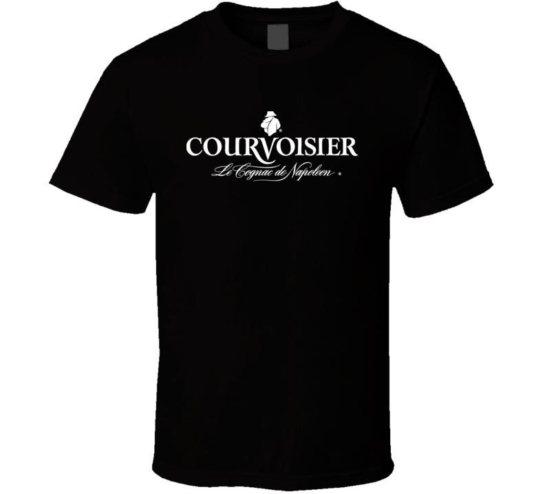 Courvoisier Cognac Hard Liquor Alcoholic Beverage Logo White Font T Shirt