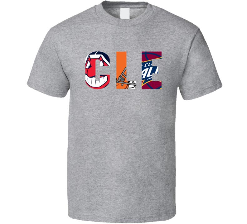 Cleveland Sports Team Logo Mashup CLE Fan T Shirt