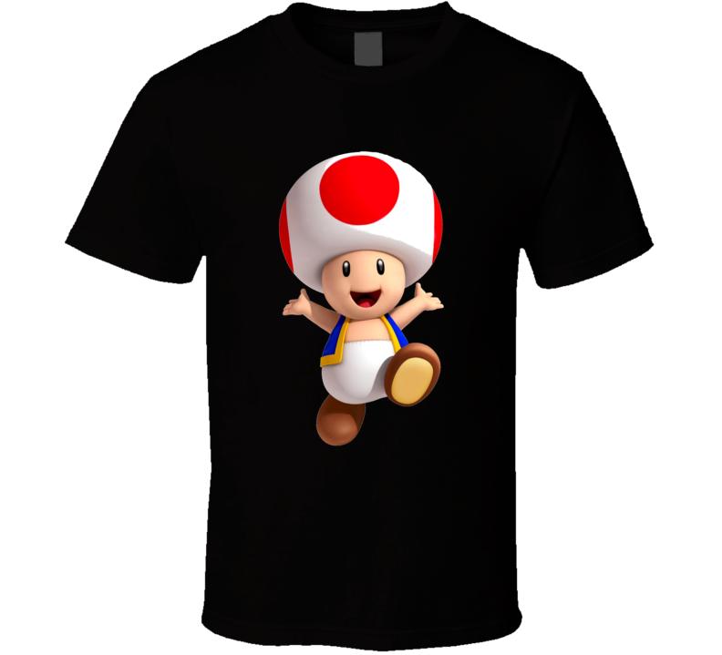 Toad Super Mario Bros Retro Nintendo Video Game Fan T Shirt