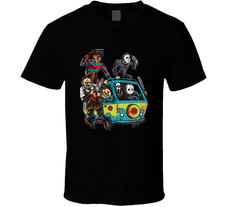 The Massacre Machine Funny Horror Movie Killers Scooby Doo Mashup Movie T Shirt