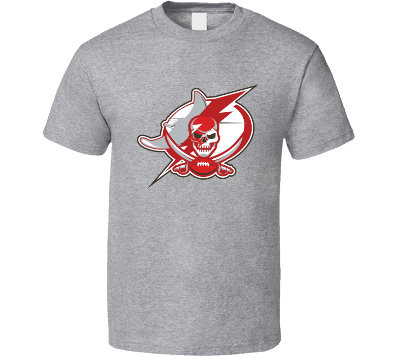 Tampa Bay Sports Team Logo Mashup Lightning Buccaneers Rays Fan T Shirt