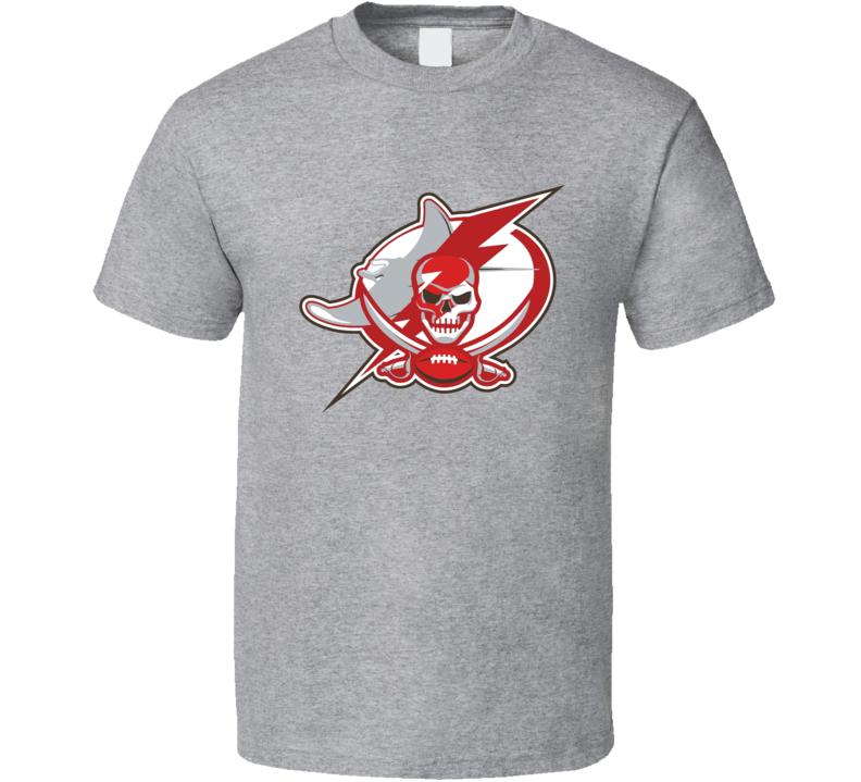 Tampa Bay Sports Team Logo Mashup Lightning Buccaneers Rays Fan T Shirt