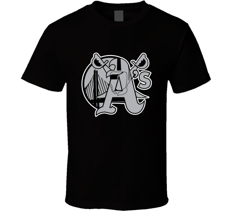 Oakland Sports Team Logo Mashup Athletics Warriors Raiders Fan T Shirt