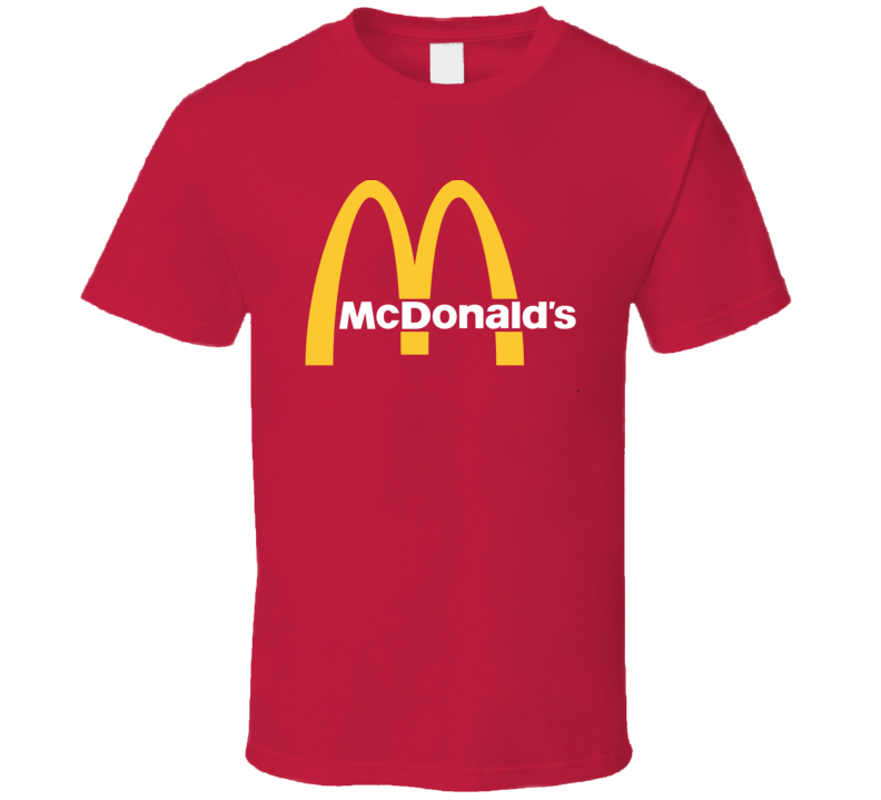 McDonald's Cool Fast Food Restaurant Brand Logo T Shirt