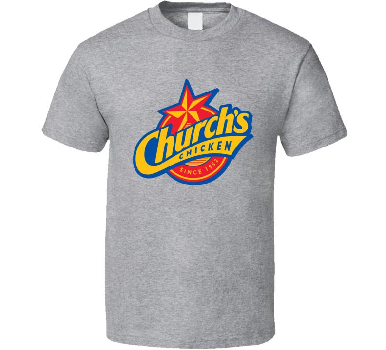 Church's Chicken Cool Fast Food Restaurant Brand Logo T Shirt