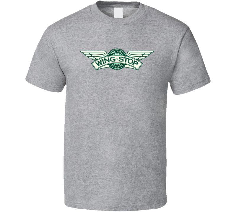 Wing Stop Cool Fast Food Restaurant Brand Logo T Shirt