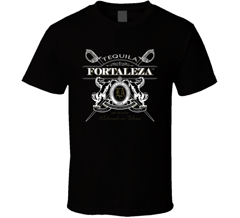 Fortaleza Tequila Logo Alcohol Liquor Drink For Black T Shirt