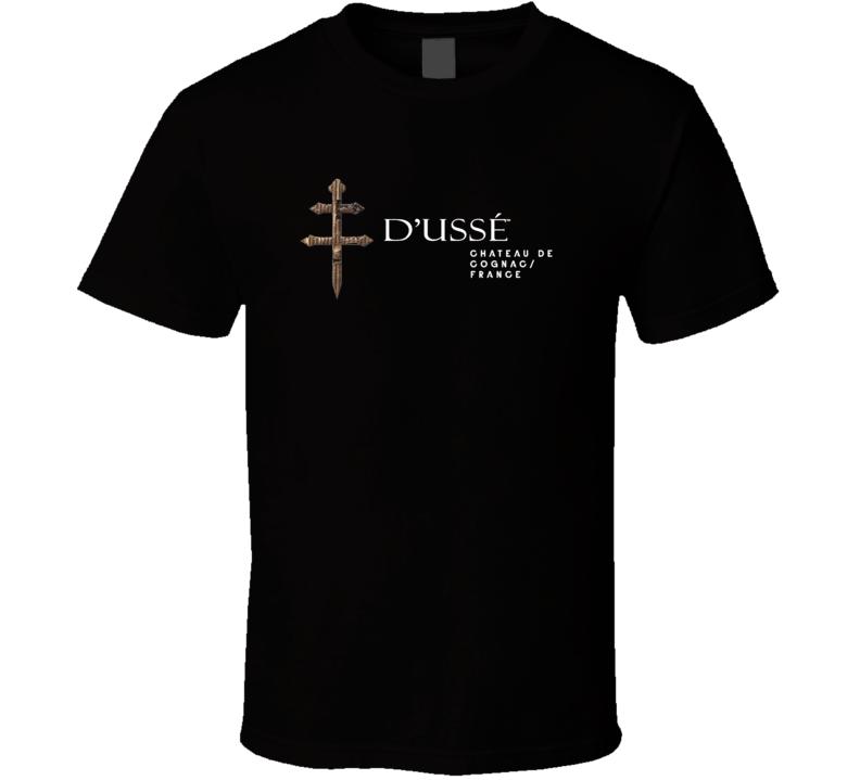 D'usse Cognac Alcohol Brand Logo Drink T Shirt