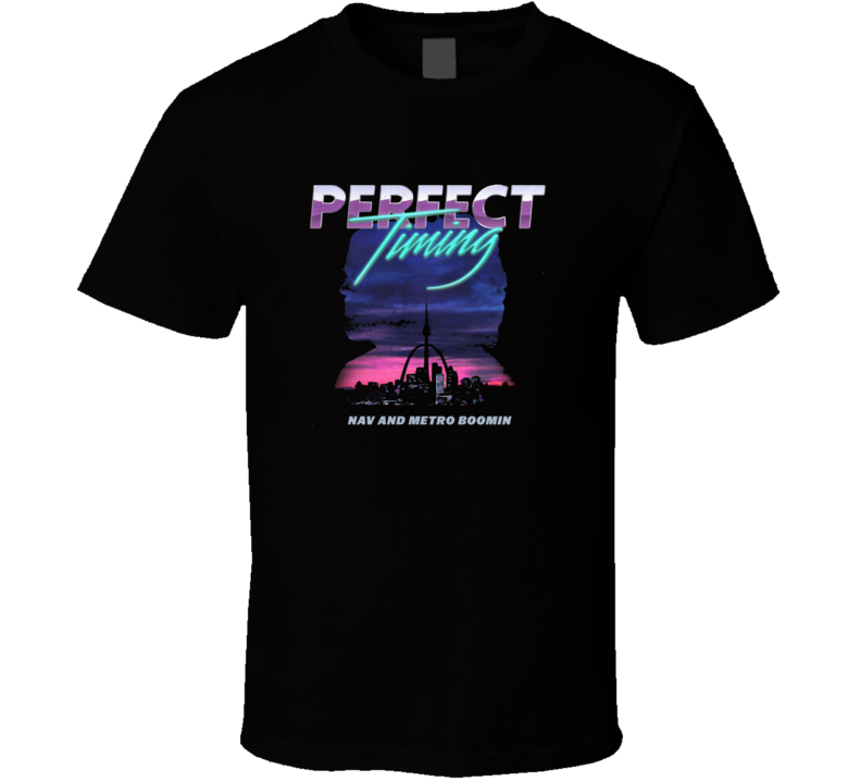 Nav Metro Boomin Perfect Timing Mixtape Cover Rap Hip Hop Music Fan Cool T Shirt