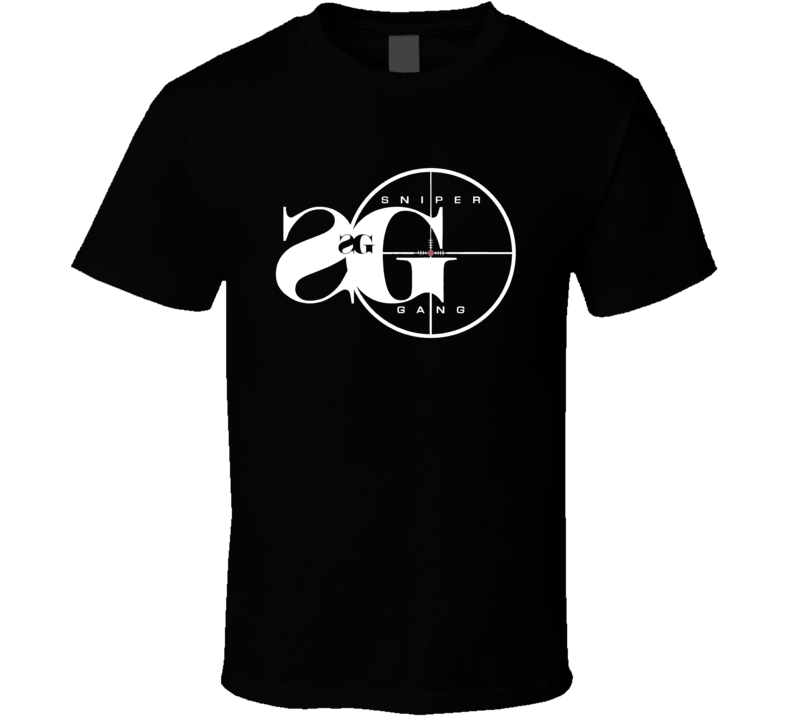 Sniper Gang Logo Kodak Black Trap Rap Hip Hop Fan T Shirt