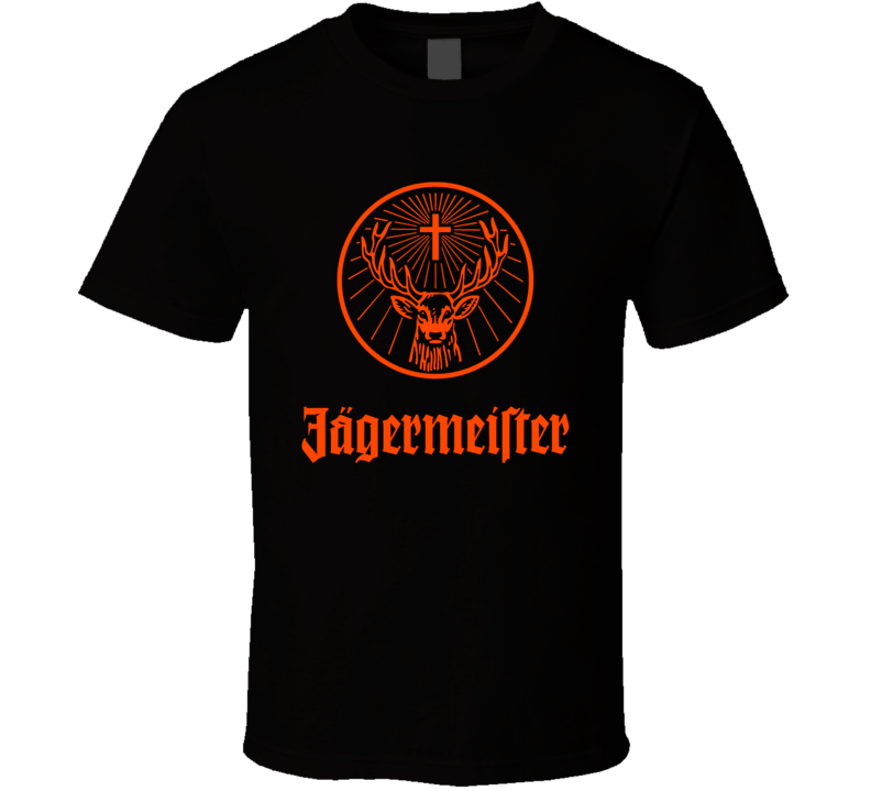 Jagermeister Liqueur Liquor Alcohol Brand Logo T Shirt