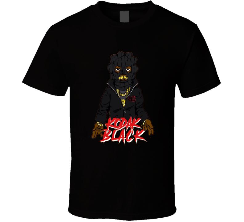 Kodak Black Cartoon Ski Mask Sniper Gang Rap Hip Hop Music Fan T Shirt