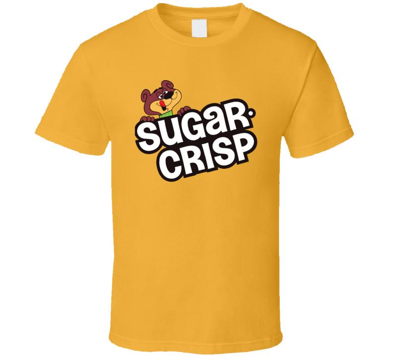 Sugar Crisp Cereal Popular Food Brand Logo T Shirt