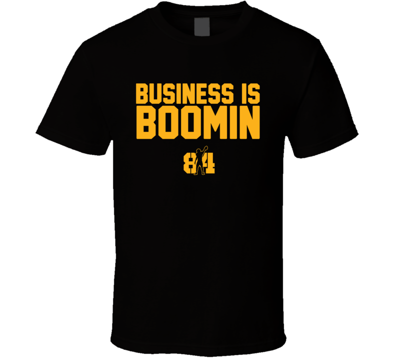 Antonio Brown Ab 84 Business Is Boomin Silhouette Pittsburgh Football Team Fan T Shirt