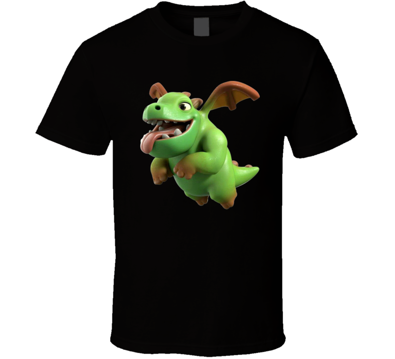 Clash Royale Baby Dragon Card Ios Video Game App Fan Logo T Shirt