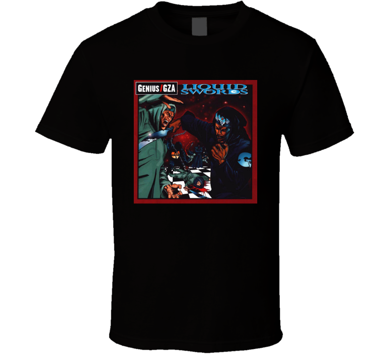 Genius Gza Liquid Swords Rap Hip Hop Music Fan T Shirt