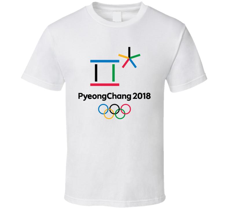 Pyeongchang 2018 Winter Olympics Logo Cool Fan T Shirt