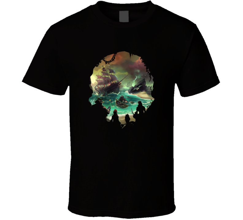 Sea Of Thieves Cool Skull Video Game Fan T Shirt