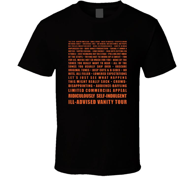 Weird Al Yankovich 2018 Tour T Shirt