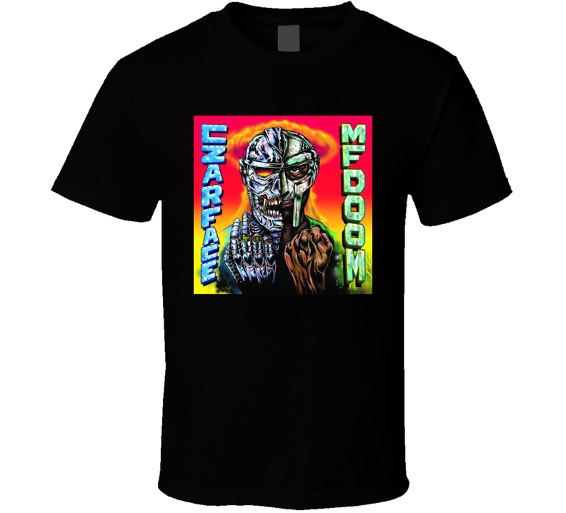 Czarface Meets Metal Face Mf Doom Collaboration Rap Hip Hop Music Fan T Shirt