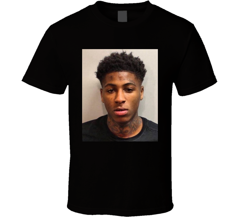 Nba Youngboy Mugshot Rap Hip Hop Music Fan T Shirt
