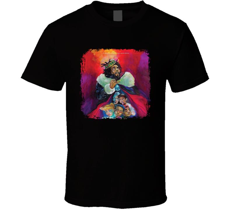 J. Cole Kod Album Cool Rap Hip Hop Music Fan Distressed Style T Shirt